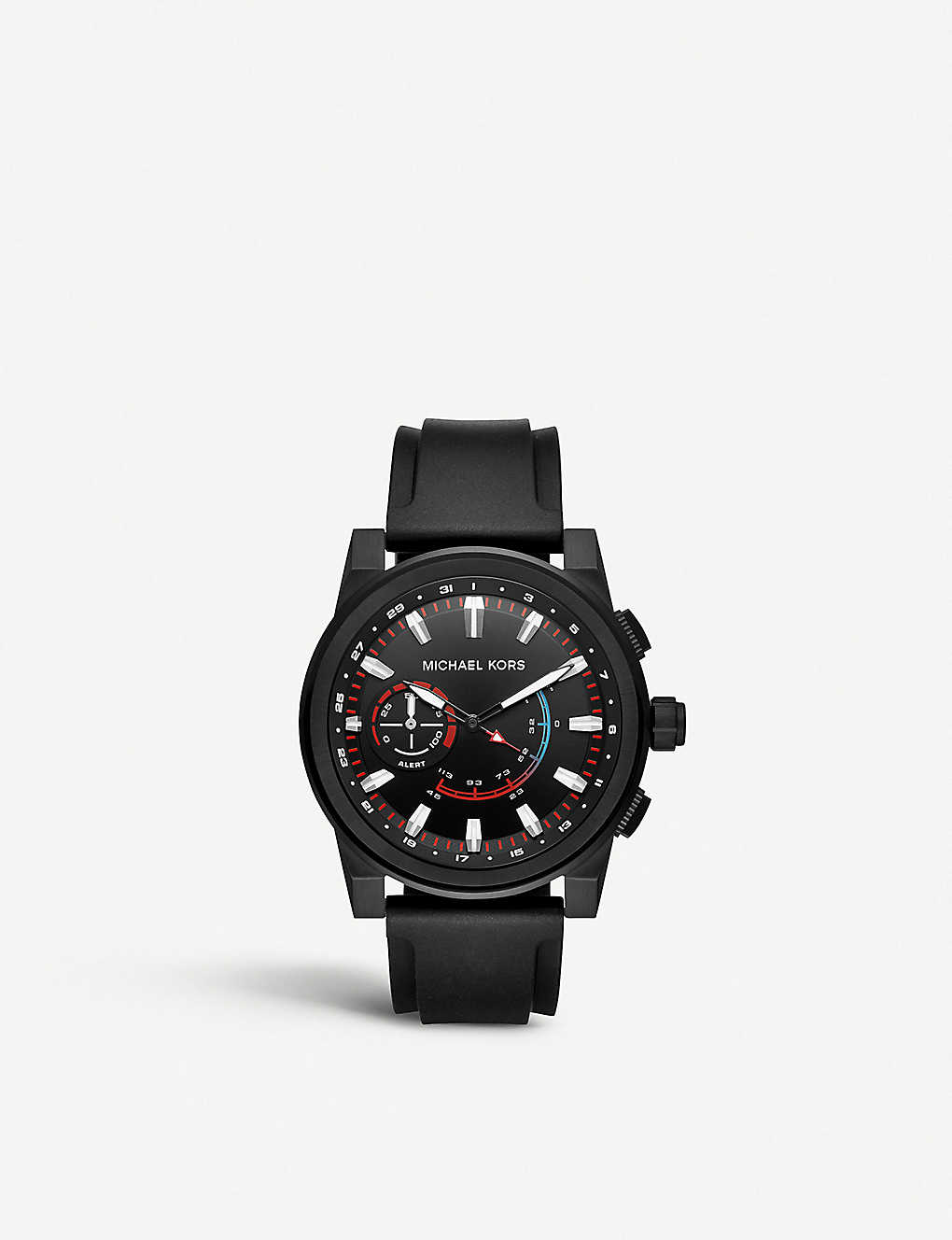588c20b1fa89 MKT4010 Grayson black-tone stainless steel and silicone smartwatch ...
