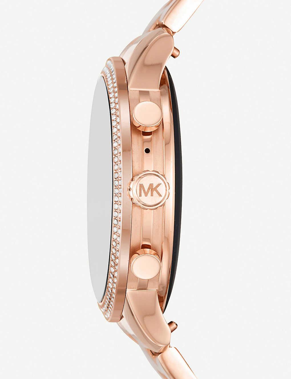 c2411aa17fa3 MICHAEL KORS - MKT5052 Runway Pavé stainless steel smartwatch ...