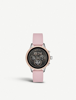 MICHAEL KORS MKT5055 Runway rose-gold plated stainless steel and rubber watch