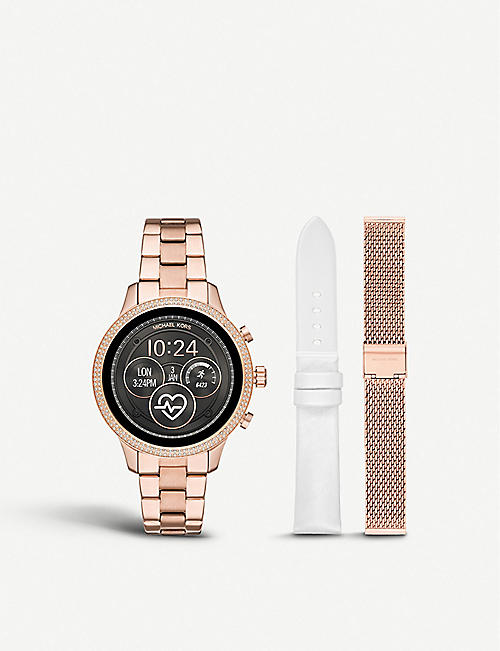 d5cd7e0e0c0 MICHAEL KORS MKT5060 Runway rose-gold plated stainless steel watch