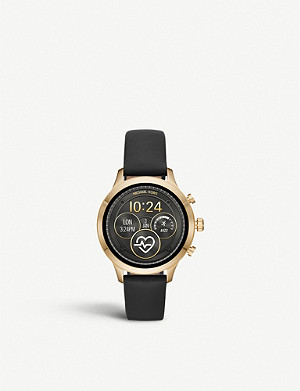 MICHAEL KORS Runway leather smartwatch strap