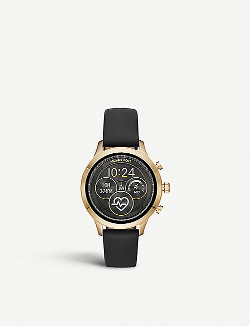 MICHAEL KORS: Runway leather smartwatch strap