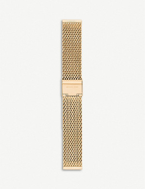 MICHAEL KORS Runway yellow-gold plated stainless steel smartwatch strap