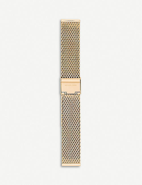 MICHAEL KORS: Runway yellow-gold plated stainless steel smartwatch strap
