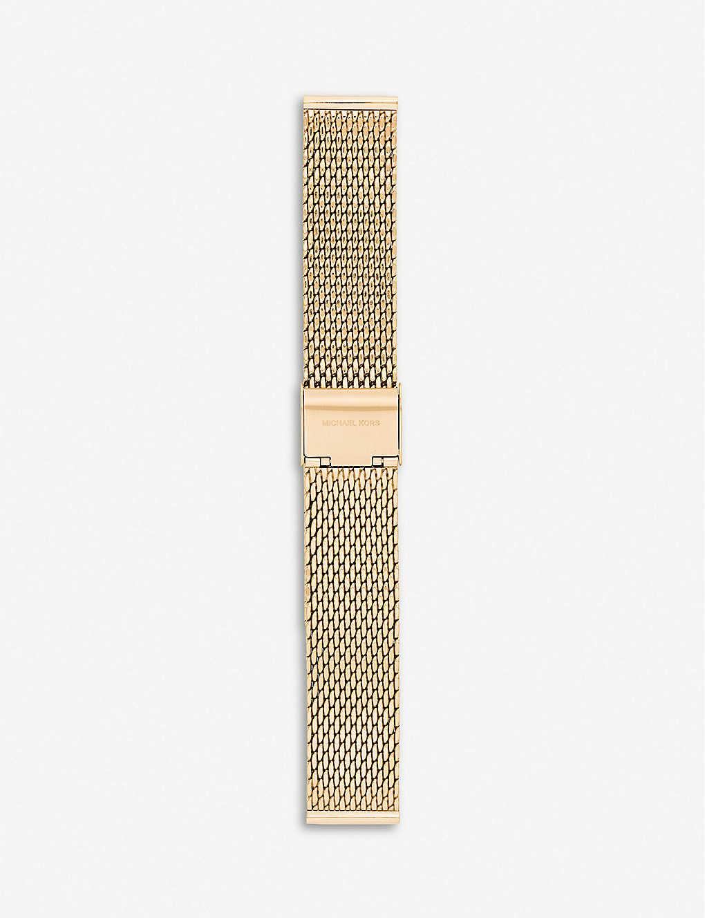 63d73de330f0 MICHAEL KORS - MKT9074 Runway yellow-gold plated stainless steel ...