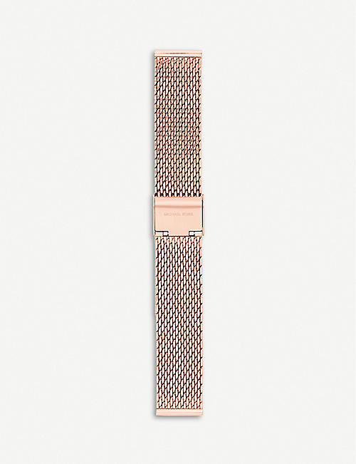 MICHAEL KORS: Runway rose-gold-plated stainless-steel watch strap