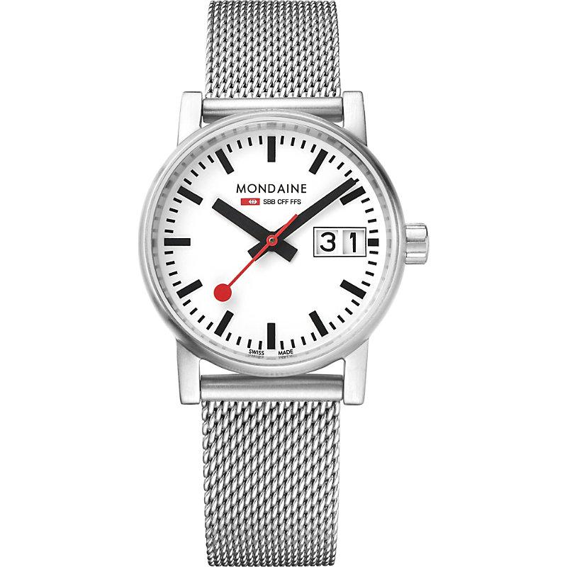 MONDAINE Mse-30210-Sm Evo2 Stainless Steel Watch in Silver