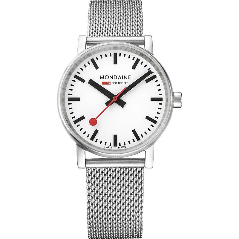 MONDAINE Mse-35110-Sm Evo2 Stainless Steel Watch in Silver