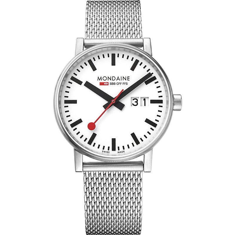 MONDAINE Mse-40210-Sm Evo2 Big Stainless Steel Watch in Silver