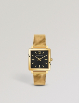 LARSSON & JENNINGS NRS34-CMGLD-CG-Q-P-GB-O Norse gold-plated stainless steel watch