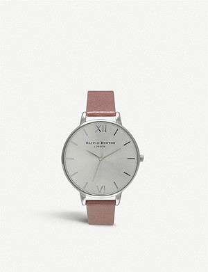 OLIVIA BURTON Big Dial rose gold-plated watch