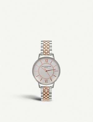 OLIVIA BURTON Ob15wd40 Wonderland rose gold-plated stainless steel watch