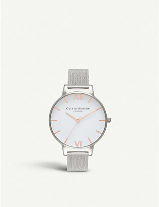 OLIVIA BURTON: OB16BD97 stainless steel mesh watch