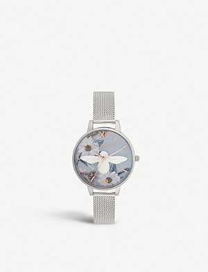OLIVIA BURTON OB16BF18 Bejewelled Florals 3D Bee Demi Dial stainless steel watch