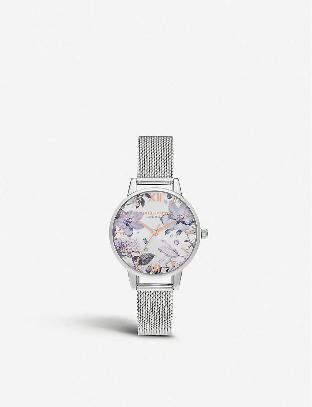 557506328374 OLIVIA BURTON - OB16BF26 Bejewelled Florals stainless steel watch ...
