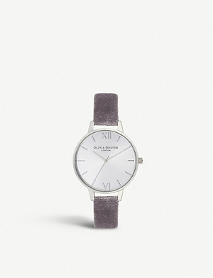 OLIVIA BURTON OB16DE04 Sunray Demi stainless steel and velvet strap watch
