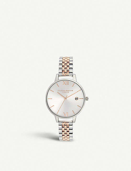 OLIVIA BURTON OB16DE06 Sunray Demi stainless steel and rose gold-plated watch