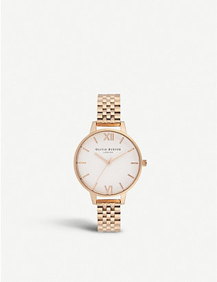 OLIVIA BURTON: OB16DEW01 Demi Dial rose gold-plated watch