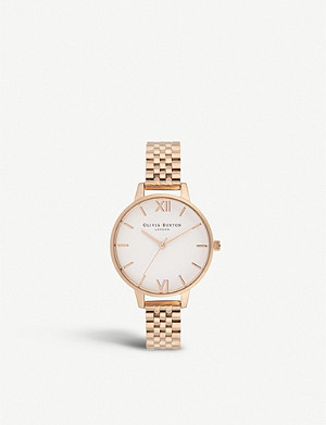 OLIVIA BURTON OB16DEW01 Demi Dial rose gold-plated watch