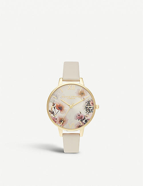 OLIVIA BURTON OB16EG118 Sunlight Florals gold-plated vegan-friendly watch