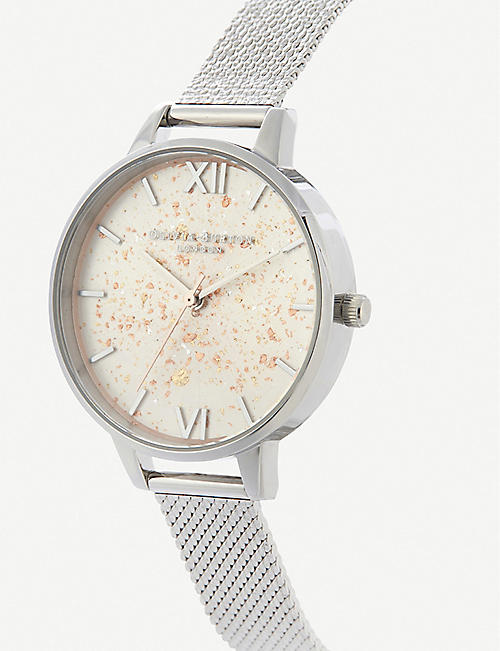 OLIVIA BURTON OB16GD14 Celestial stainless steel demi dial watch