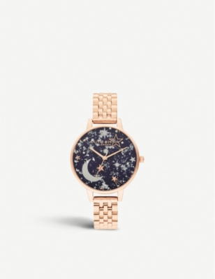 OLIVIA BURTON OB16GD36 Ramadan demi rose gold-plated watch
