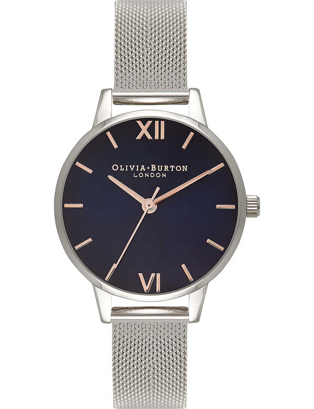 b183075ea OLIVIA BURTON - OB16MD71 midi dial silver-plated stainless steel ...