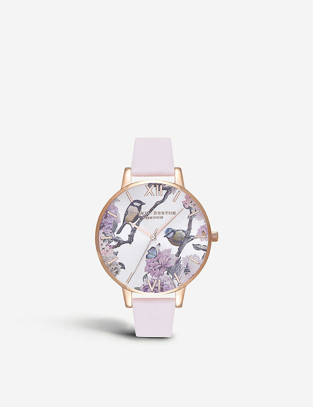 6d11a41c92fc OLIVIA BURTON - OB16PL35 Pretty Blossom rose-gold and leather watch ...