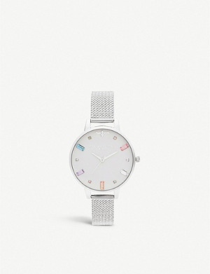 OLIVIA BURTON OB16RB10 Rainbow Bee stainless steel demi dial watch