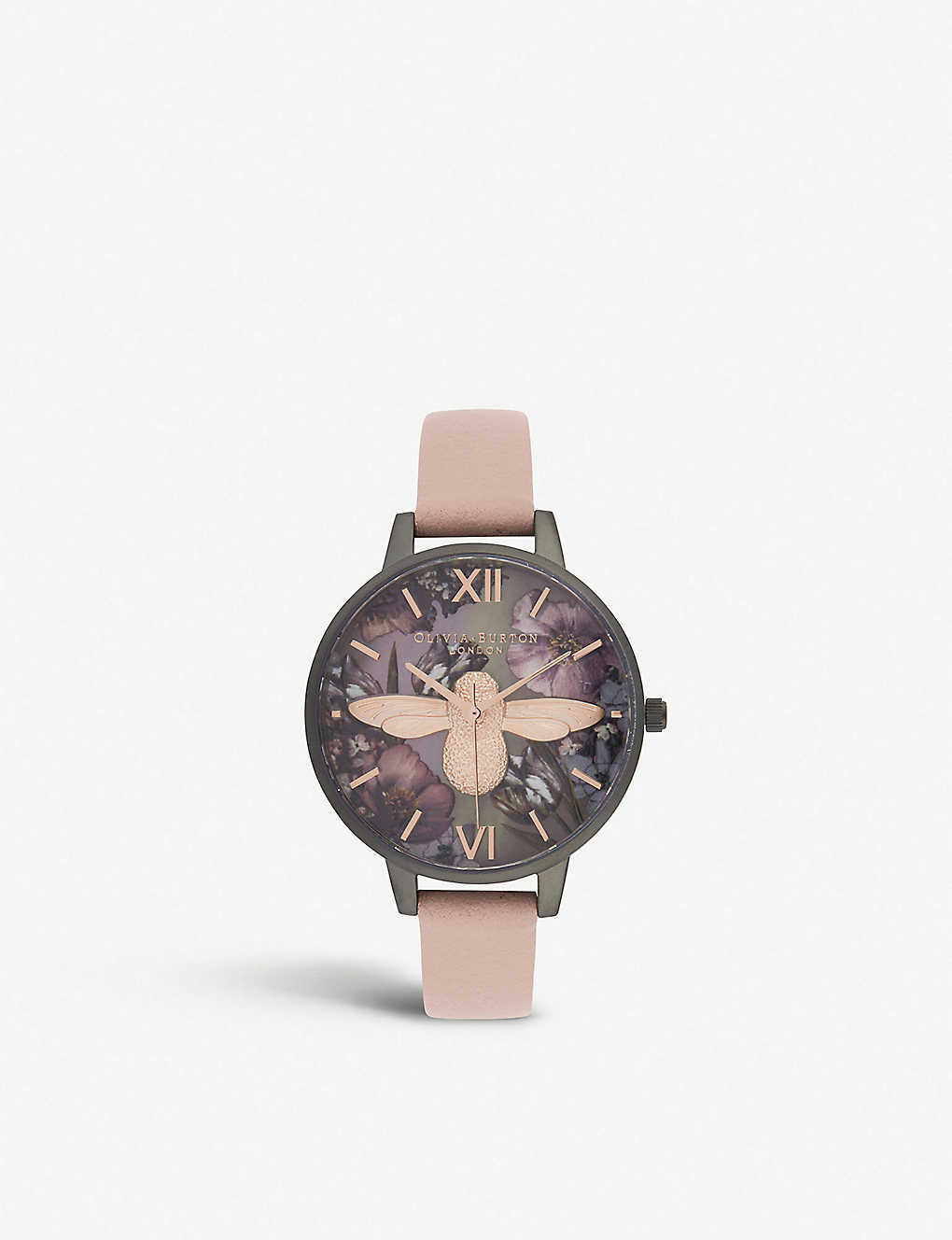 d7c5c77d4 OLIVIA BURTON OB16TW02 Twilight Demi stainless steel, mother-of-pearl and leather  strap watch