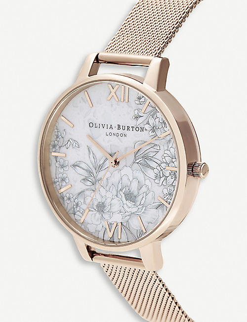 OLIVIA BURTON Terrazzo Florals quartz rose gold-plated stainless-steel watch