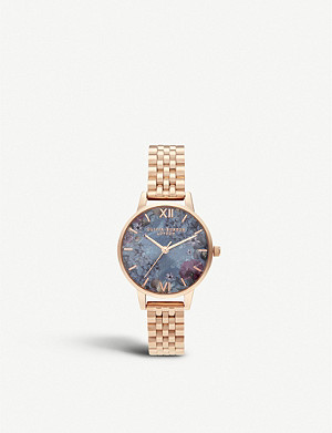 OLIVIA BURTON OB16US25 Under the Sea rose gold-plated watch