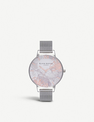 OLIVIA BURTON Abstract Florals stainless steel watch