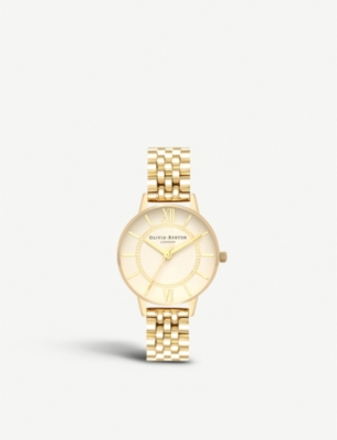 OLIVIA BURTON OB16WD69 Wonderland gold-toned stainless steel watch