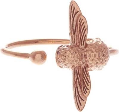 OLIVIA BURTON Bee 18ct rose gold plated sterling silver ring