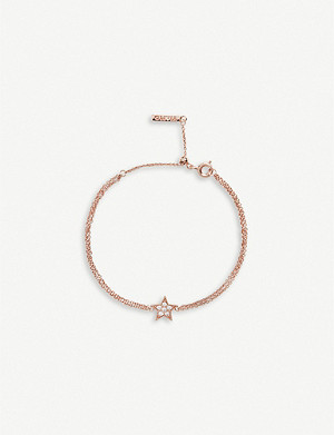OLIVIA BURTON Celestial rose gold-plated and crystal-embellished star bracelet