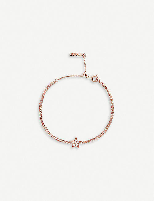 2f301b662696 OLIVIA BURTON Celestial rose gold-plated and crystal-embellished star  bracelet
