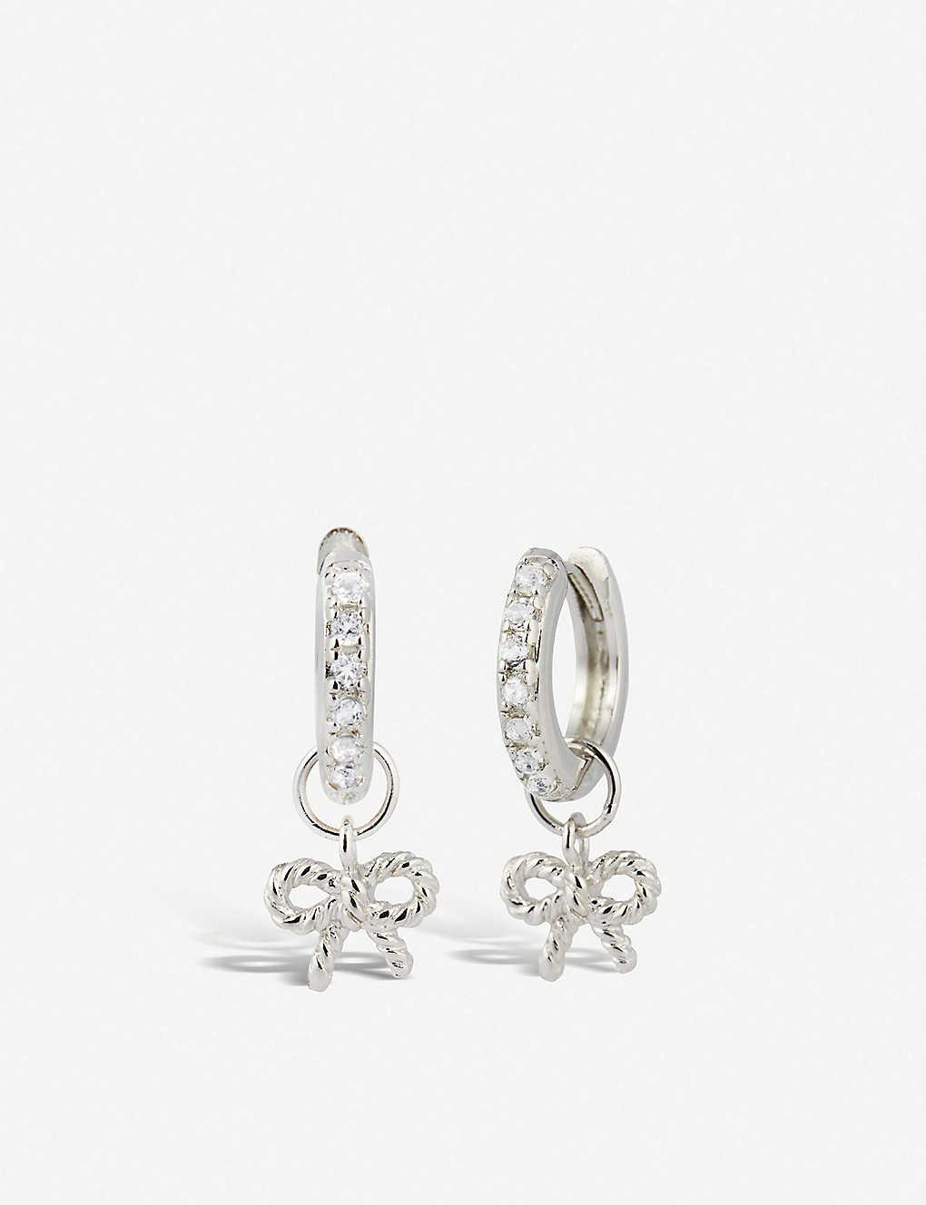 6d65ad6b1 OLIVIA BURTON - Sterling silver hoop earrings   Selfridges.com