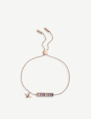 OLIVIA BURTON Rainbow Bee rose gold-plated bracelet