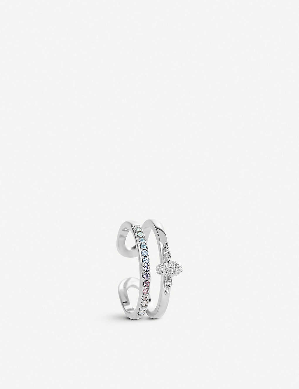9b5260d29154 OLIVIA BURTON - Rainbow Bee sterling silver and Swarovski crystal ...