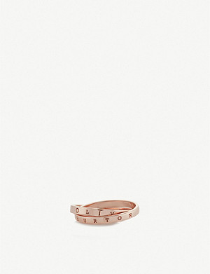 OLIVIA BURTON The Classics Interlink rose gold-plated sterling ring