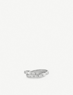 OLIVIA BURTON The Classics Interlink sterling-silver ring