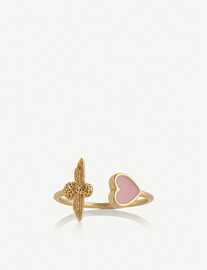 OLIVIA BURTON Love Bug gold plated and enamel ring