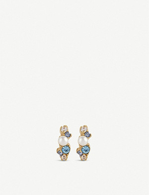 OLIVIA BURTON Under the Sea gold-plated huggie earrings