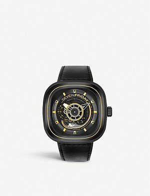 SEVEN FRIDAY P2B/02 gold-tone stainless steel watch