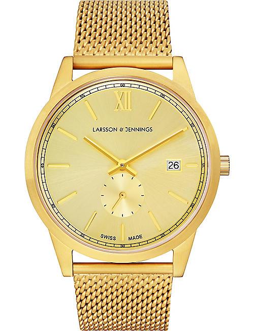 844b81dc4b6 LARSSON   JENNINGS Saxon gold-plated stainless steel watch