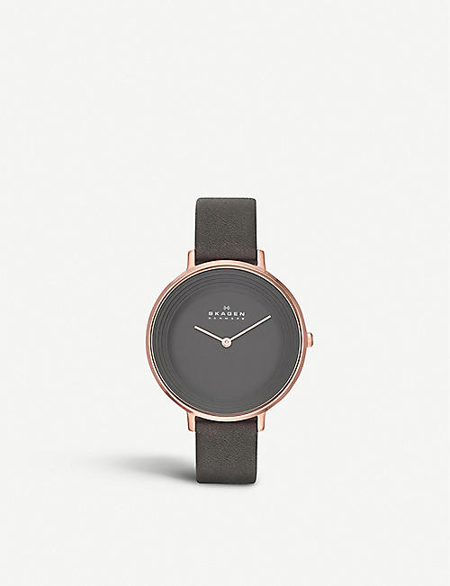 SKAGEN SKW2216 ditte rose gold-toned stainless steel watch