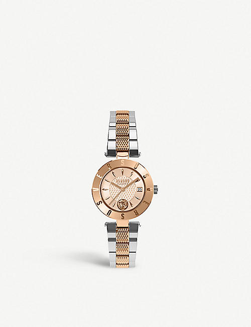 VERSUS SP77260018 Logo gold-plated stainless steel watch