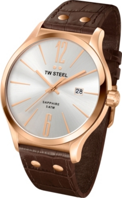 TW STEEL TW1304 Slim Line rose gold-plated stainless steel watch