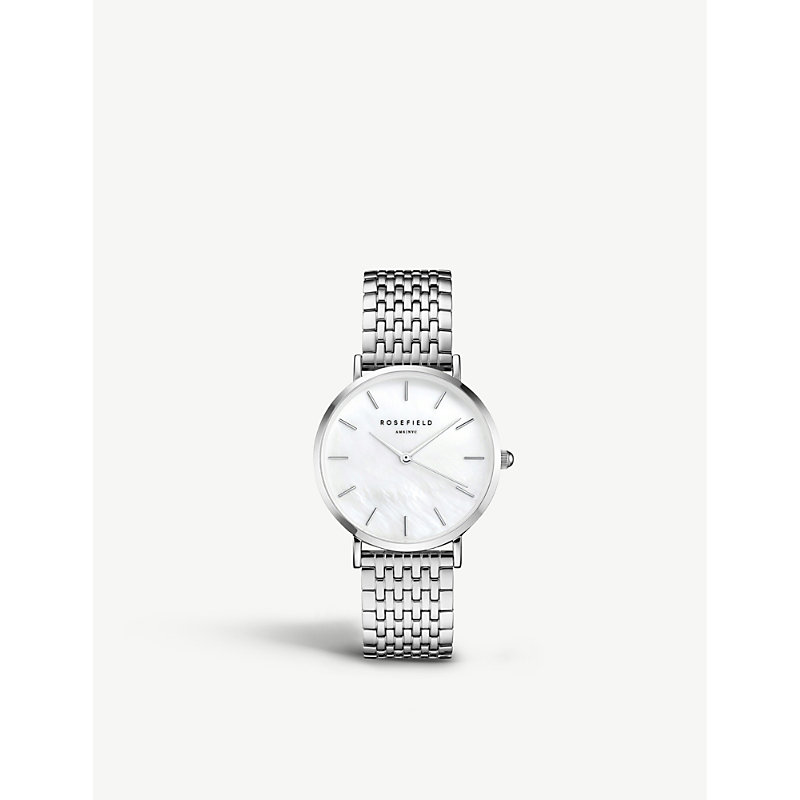 ROSEFIELD Uews-U22 The Upper East Side Silver-Plated Watch in Silver/ White Pearl/ Silver